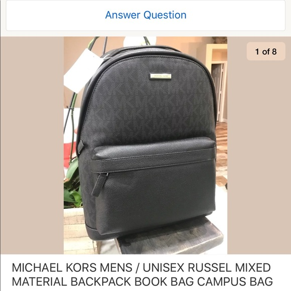 81b5c4ba768e Men s Russel Mixed Material Backpack Bookbag Black. Boutique. Michael Kors